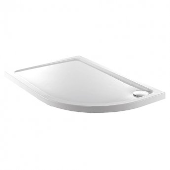 Just Trays JT Fusion Offset Quadrant Shower Tray with Waste 900mm x 760mm Right Handed Flat Top