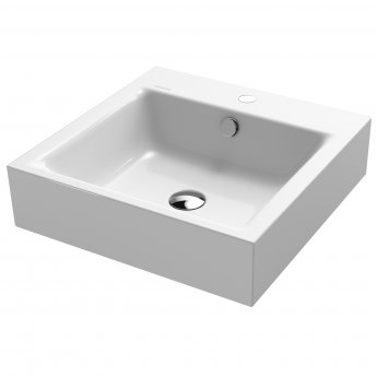 Kaldewei Puro Countertop Basin 600mm Wide - 1 Tap Hole