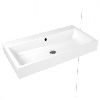 Kaldewei Puro Wall Hung Basin 900mm Wide 1 Tap Hole