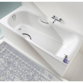 Kaldewei Saniform Plus Rectangular Steel Bath, 1800mm x 800mm, 0 Tap Hole