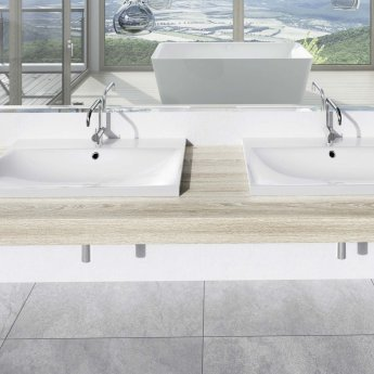 Kaldewei Silenio Inset Countertop Basin 900mm Wide - 1 Tap Hole