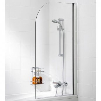 Signature Contract Curved Bath Screen 1400mm H x 800mm W -6mm Glass