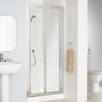 Lakes Classic Bi-Fold Shower Door 1850mm H x 750mm W - Silver