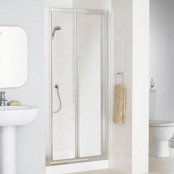 Lakes Classic Bi-Fold Shower Door 1850mm H x 1000mm W - Silver