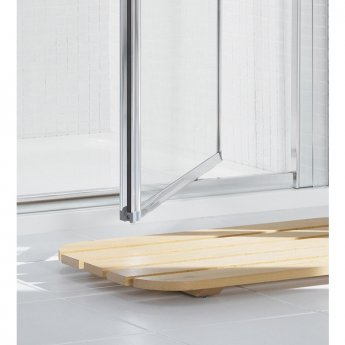 Lakes Classic Pivot Shower Door 1850mm H x 900mm W - Silver