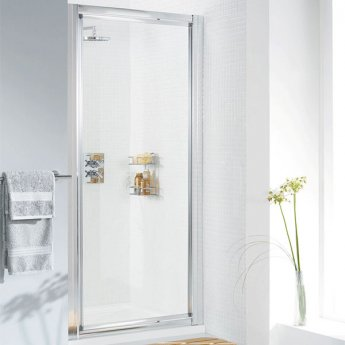 Lakes Classic Pivot Shower Door 1850mm H x 800mm W - Silver