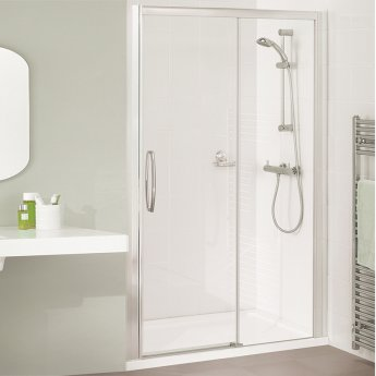 Lakes Classic Low Threshold Semi Frameless Sliding Shower Door 1850mm H x 1800mm W - Left Handed