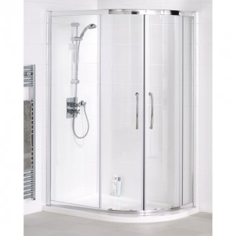 Lakes Classic Quadrant Plus Shower Enclosure 1850mm H x 1000mm W - Silver