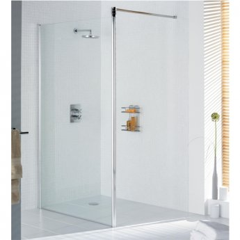 Lakes Classic Walk-In Shower Screen 1985mm H x 1200mm W - Silver