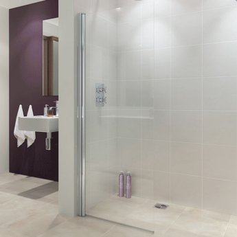 Lakes Coastline Alassio Hinged Walk-In Shower Screen 1900mm H x 800mm W - 8mm Glass