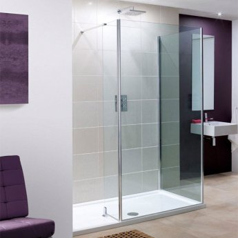 Lakes Coastline Andora Walk-In Shower Front Panel 2000mm H x 950mm W - 8mm Glass