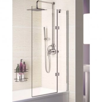 Signature Contract Hinged Bath Screen 1500mm H x 1000mm W - Right Handed