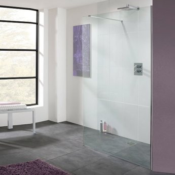 Lakes Coastline Cannes Walk-In Shower Panel 2000mm H x 200mm W - 8mm Glass