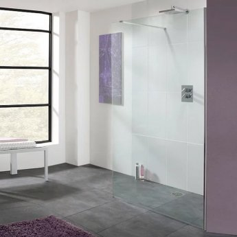 Lakes Coastline Cannes Walk-In Shower Panel 2000mm H x 1000mm W - 8mm Glass