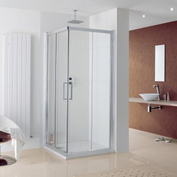 Lakes Coastline Malmo Corner Entry Shower Enclosure 700mm x 800mm - 8mm Glass