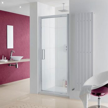 Lakes Coastline Narva Pivot Shower Door 2000mm H x 900mm W - 8mm Glass