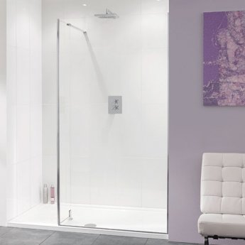 Lakes Coastline Nice Walk-In Shower Screen 2000mm H x 800mm W - 10mm Glass