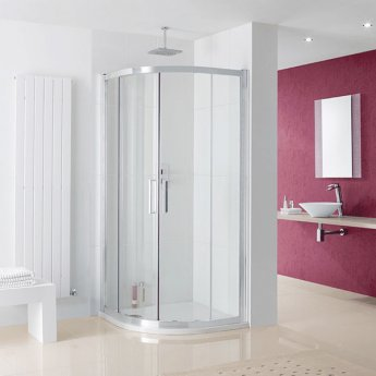 Lakes Coastline Valmiera Quadrant Shower Enclosure 900mm x 900mm - 8mm Glass