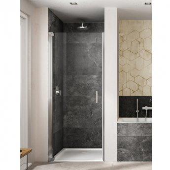 Lakes Italia Amare Semi Frameless Pivot Shower Door 2000mm H x 750mm W - Left Handed