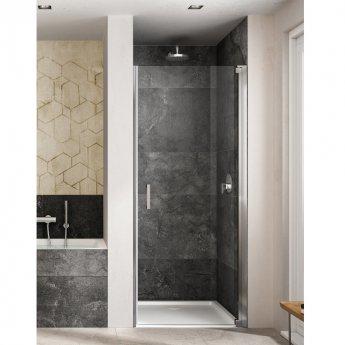 Lakes Italia Amare Semi Frameless Pivot Shower Door 2000mm H x 800mm W - Right Handed