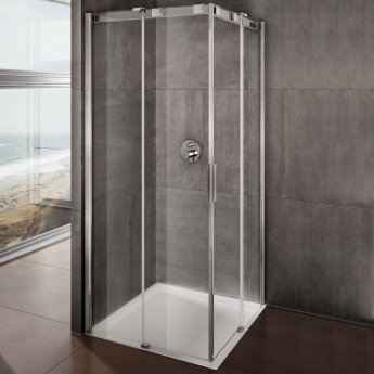 Lakes Italia Avanza Frameless Sliding Shower Door 2000mm H x 1200mm W - Left Handed Only