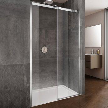 Lakes Italia Premio Frameless Sliding Shower Door 2000mm H x 1400mm W - Left Handed