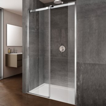 Lakes Italia Premio Frameless Sliding Shower Door 2000mm H x 1400mm W - Right Handed