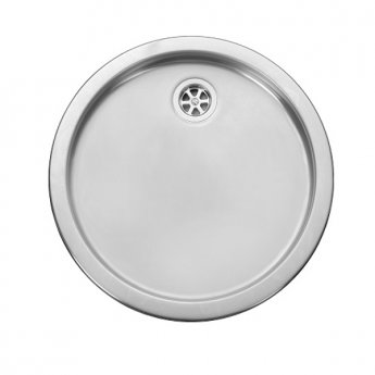 Leisure Single Drainer RD440BF 1.0 Inset Kitchen Sink 440mm L x 440mm W - Stainless Steel