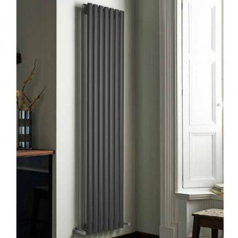MaxHeat Aspen Double Designer Vertical Radiator 1600mm H x 440mm W - Anthracite