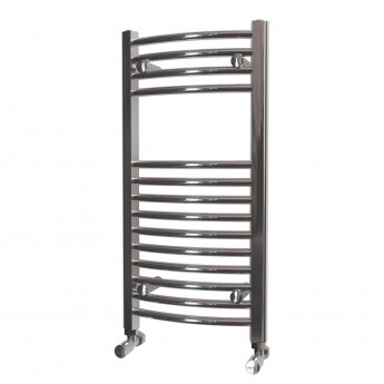 MaxHeat Camborne Curved Towel Rail, 800mm High x 400mm Wide, Chrome