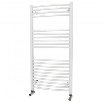 MaxHeat Camborne Curved Towel Rail, 1200mm High x 600mm Wide, White