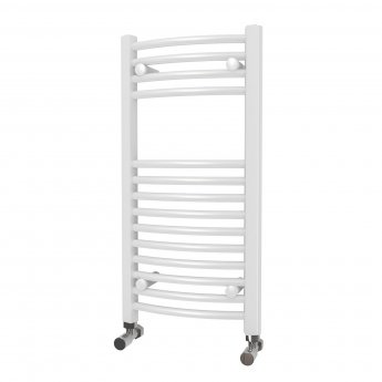 MaxHeat Camborne Curved Towel Rail, 800mm High x 400mm Wide, White
