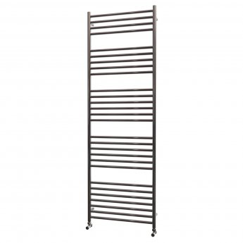 MaxHeat Falmouth Straight Towel Rail, 1800mm High x 600mm Wide, Polished Stainless Steel