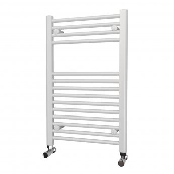 MaxHeat Falmouth Straight Towel Rail, 800mm High x 500mm Wide, White