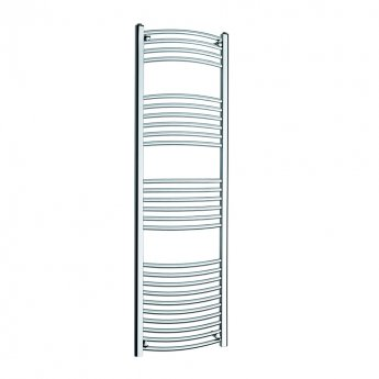MaxHeat K-Rail 25mm Curved Towel Rail 1600mm H x 500mm W - Chrome