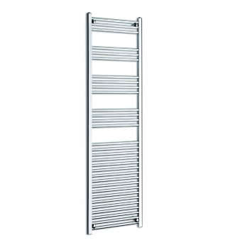 MaxHeat K-Rail 25mm Straight Towel Rail 1800mm H x 600mm W - Chrome