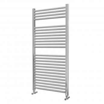 MaxHeat Lazzarini Roma Straight Towel Rail 1230mm H x 500mm W - Chrome
