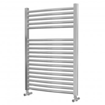 MaxHeat Lazzarini Roma Curved Towel Rail 842mm H x 600mm W - Chrome