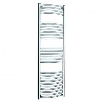MaxHeat MaxRail Curved Heated Towel Rail 1600mm H x 500mm W Chrome
