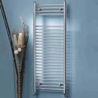 MaxHeat MaxRail Straight Heated Towel Rail 1600mm H x 400mm W Chrome
