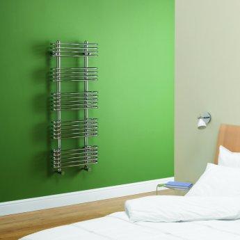 MaxHeat Oakland Designer Heated Towel Rail 1176mm H x 500mm W Chrome