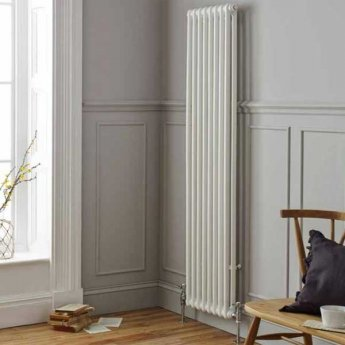 MaxHeat Octavius 2 Column Vertical Radiator 1800mm H x 196mm W - White