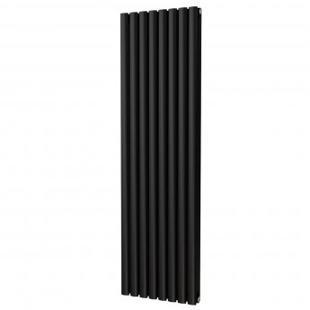 MaxHeat Saltash Double Vertical Radiator, 1600mm High x 464mm Wide, Black