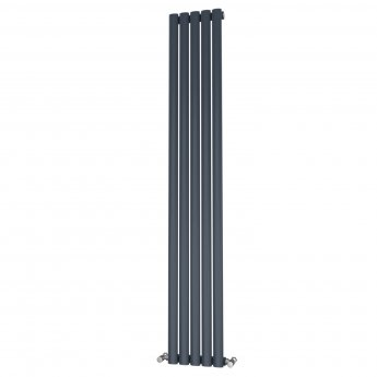 MaxHeat Saltash Single Designer Vertical Radiator 1800mm H x 290mm W Anthracite