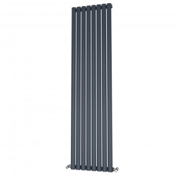 MaxHeat Saltash Single Designer Vertical Radiator 1800mm H x 464mm W Anthracite