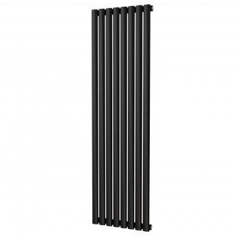 MaxHeat Saltash Single Vertical Radiator,1600mm High x 464mm Wide, Black