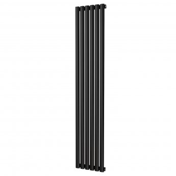 MaxHeat Saltash Single Vertical Radiator, 1800mm High x 348mm Wide, Black