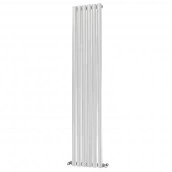 MaxHeat Saltash Single Designer Vertical Radiator 1600mm H x 348mm W White
