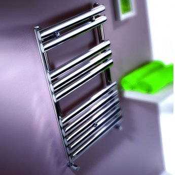 MaxHeat Swindon Heated Towel Rail 1200mm H x 500mm W Brushed Stainless Steel