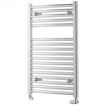 MaxHeat Trade Curved Heated Towel Rail - 800mm High x 450mm Wide - Chrome